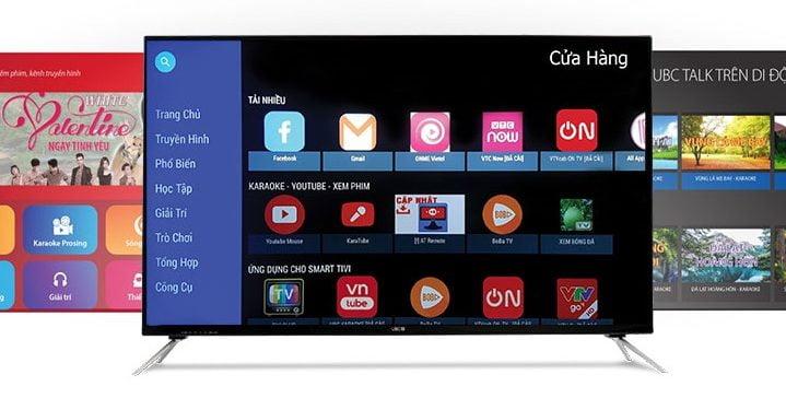 Cửa hàng ứng dụng của Smart Tivi UBC