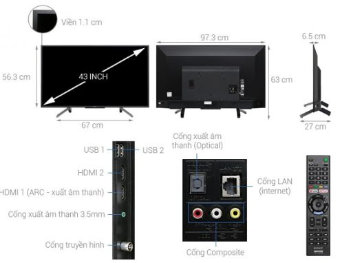 Tivi Sony 43 inch KDL-43W660G